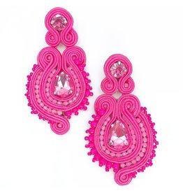 Treasure Jewels Courtney Pink Earrings