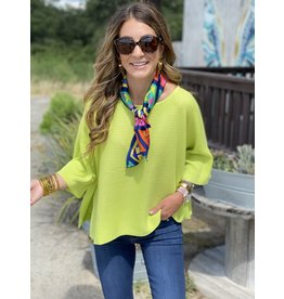 Lime Knit Short Sleeve Top