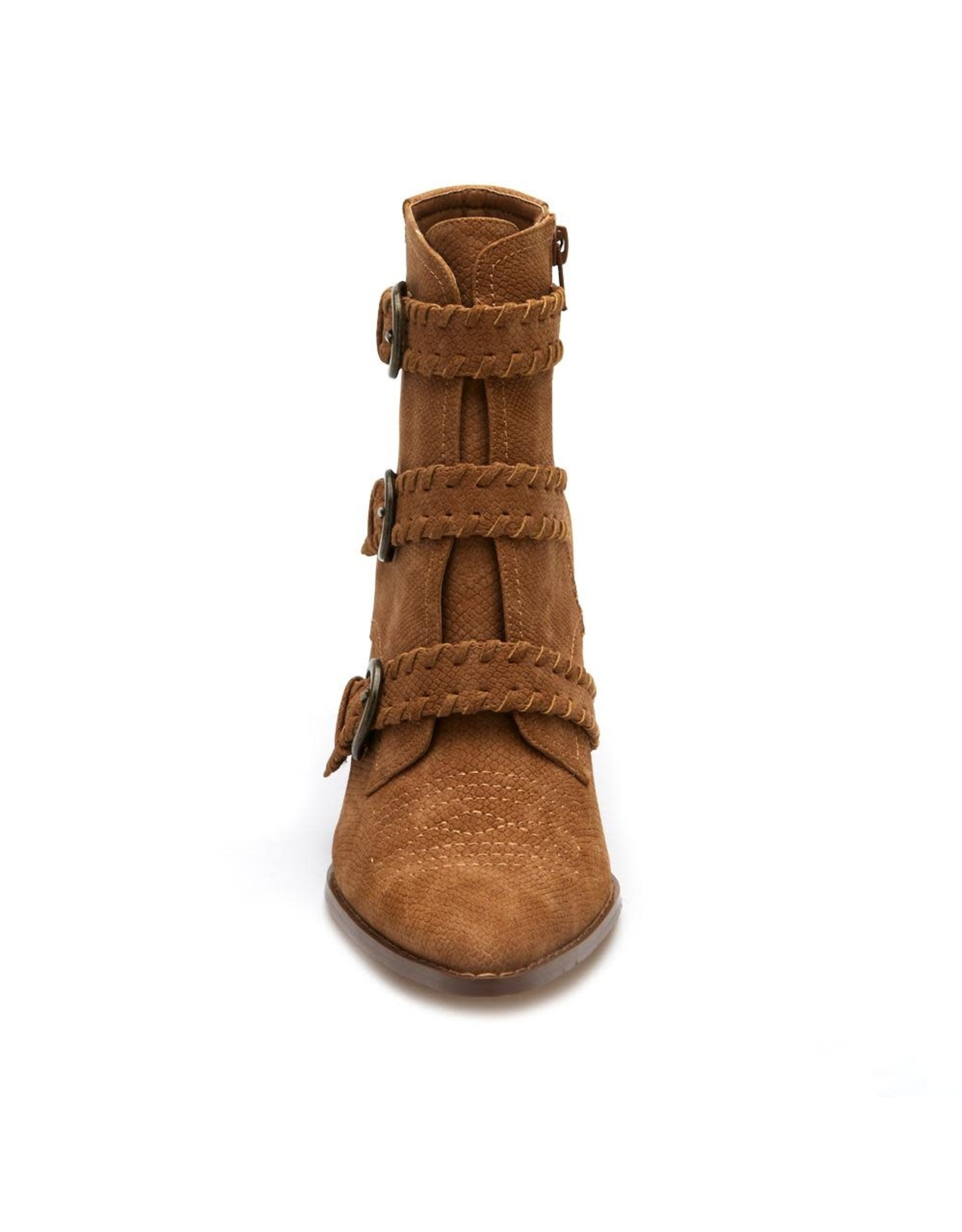 Matisse Charmer Buckle Boots in Tan
