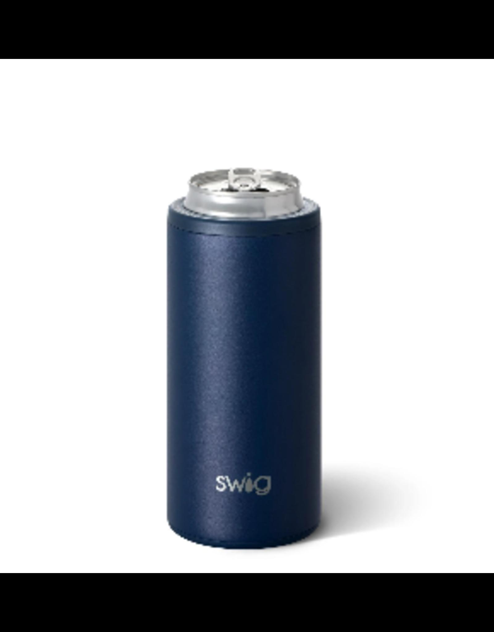 Swig 12oz Skinny Can Cooler -- Matte Navy