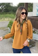 Another Love Helena Puff Sleeve in Ginger