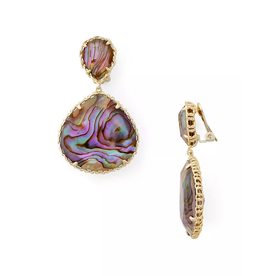 Kendra Scott Kenzie Clip Earring Nude Abalone on Gold