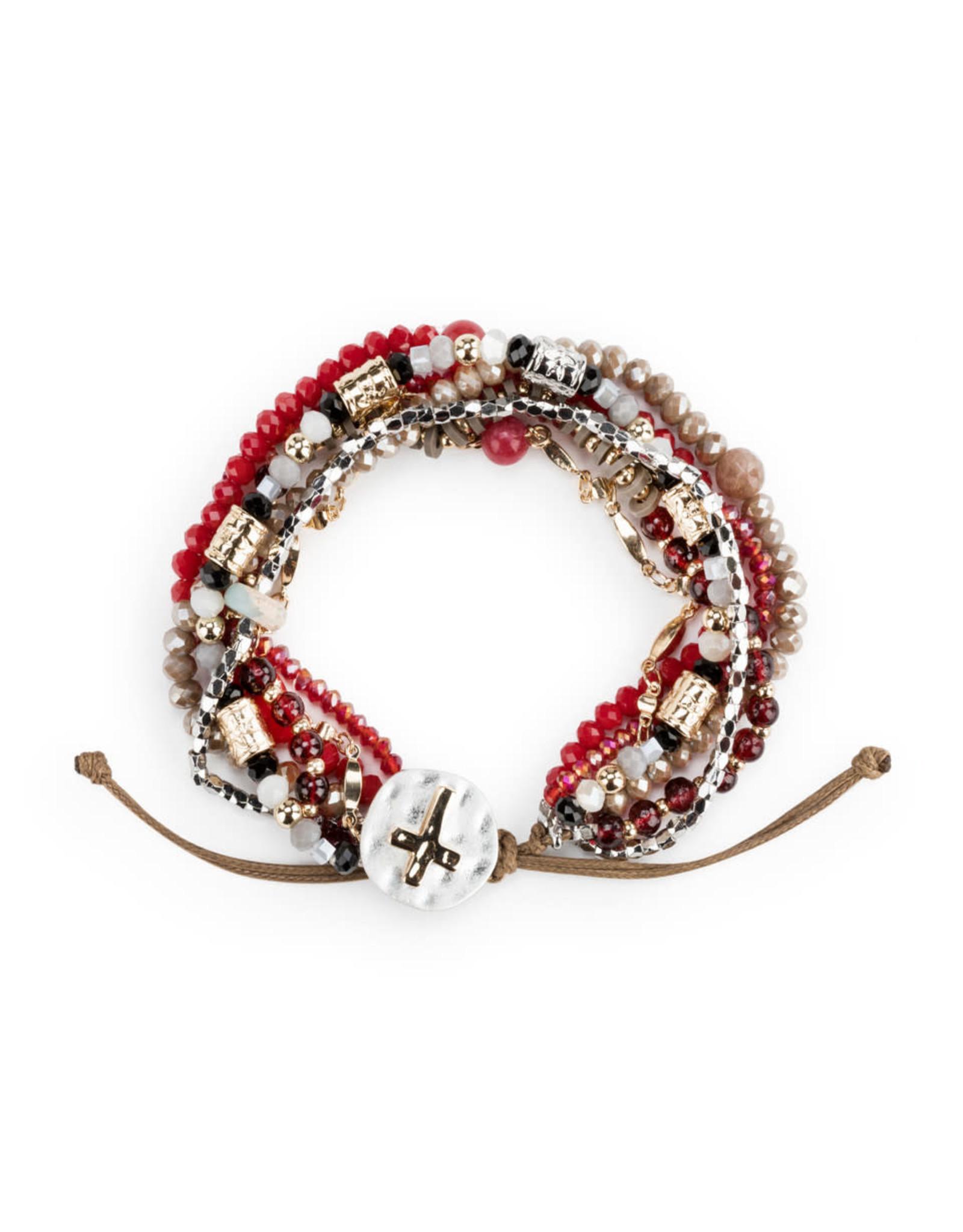 Your Journey Prayer Bracelet in Garnet Red
