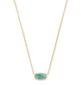 Kendra Scott Elisa Gold Dark Teal Amazonite