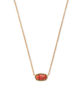 Kendra Scott Elisa Vintage Gold Burnt Sienna Necklace