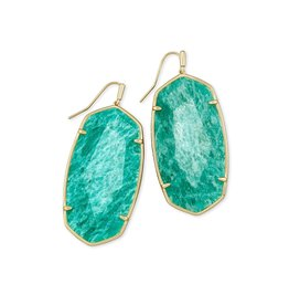 Kendra Scott Faceted Danielle Gold Dark Teal Amazonite