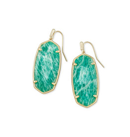 Kendra Scott Faceted Elle Gold Dark Teal Amazonite