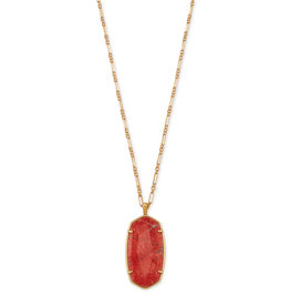 Kendra Scott Faceted Reid V. Gold Burnt Sienna