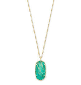 Kendra Scott Faceted Reid Gold Dark Teal Amazonite