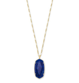Kendra Scott Faceted Reid Gold Cobalt Howlite