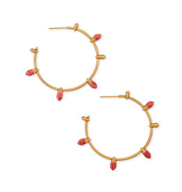 Kendra Scott Freida Hoops V. Gold Burnt Sienna