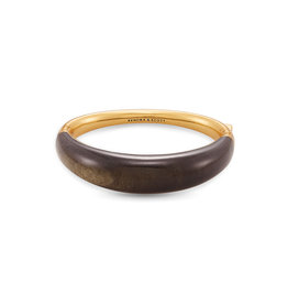 Kendra Scott Kaia Bangle V. Gold Obsidian