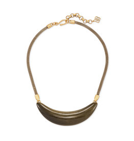 Kendra Scott Kaia Collar Necklace V. Gold Obsidian