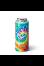 Swig 12oz Skinny Can Cooler -- Swirled Peace Tie Dye