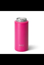 Swig 12oz Skinny Can Cooler -- Matte Hot Pink