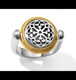 Brighton Ferrara Two Tone Reversible Ring Silver-Gold 6