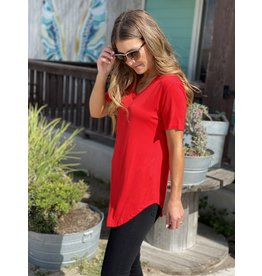 The Perfect V-Neck Tee in Red
