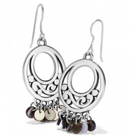 Brighton Contempo Shell Black French Wire Earrings