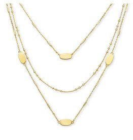 Kendra Scott Fern Triple Strand in Gold