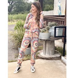 Dazed Dreams Tie Dye Jogger L/S Set