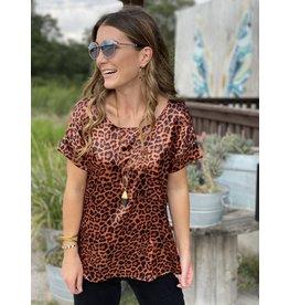 Copper Leopard Print Top