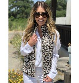 Leopard Quilted Vest