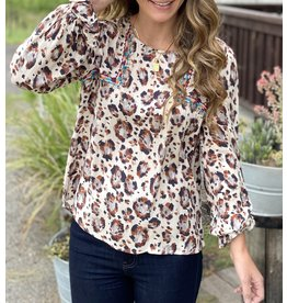 Leopard Embroidered Long Sleeve