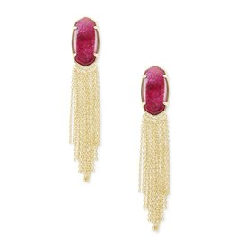 Kendra Scott Deanna Drop Earring Gold Raspberry Lbrdrt
