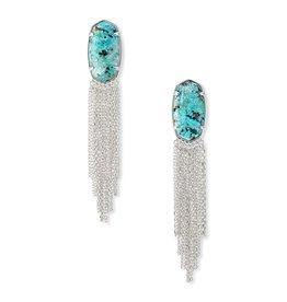 Kendra Scott Deanna Drop Earring Rhod African Turquoise