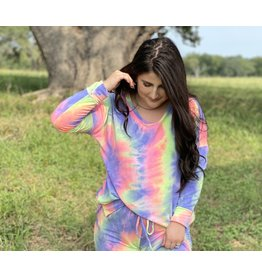 Neon Multi Light-Weight Sweatshirt