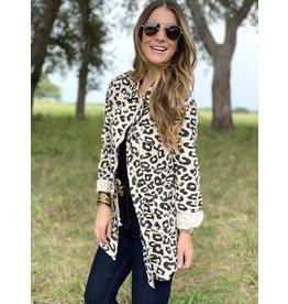 Leopard Print Utility Jacket