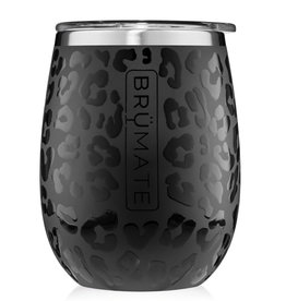 BruMate UNCORK'D XL 14oz Wine Tumbler   Onyx Leopard