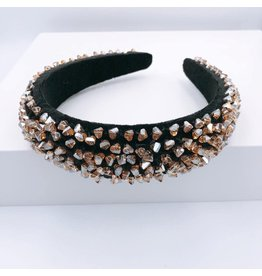 Treasure Jewels Headband - Crystal Dots Black
