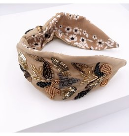 Treasure Jewels Headband - Nude Leaf