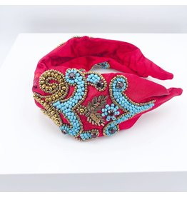 Treasure Jewels Headband - Paisley Turqoise