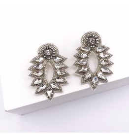 Treasure Jewels Spike Stud Silver Earrings