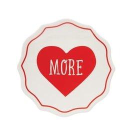 "5"" Round Stoneware Plate -More Heart"