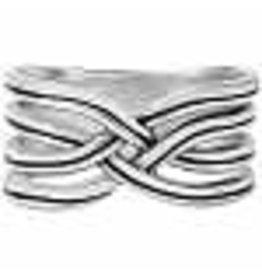 Brighton Intertwine Ring Silver 9