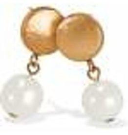 Mediterranean Pearl Post Drop Earrings Cream