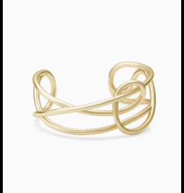 Kendra Scott Myles Cuff Bracelet Gold S/M