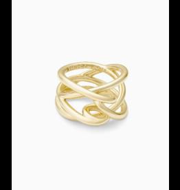 Kendra Scott Myles Band Ring Gold