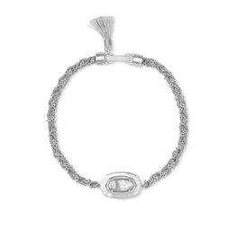 Kendra Scott Anna Friendship Bracelet Silver Gray Illusion