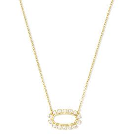 Kendra Scott Elisa Open Frame Necklace Gold