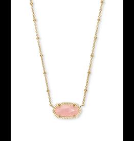 Kendra Scott Elisa Satellite Rose Quartz Necklace