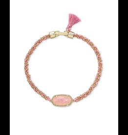 Kendra Scott Elaina Braided Bracelet Rose Quartz