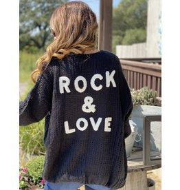 Rock & Love Black Cardigan