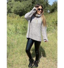 Buddy Love Karen Grey Sweater Tunic