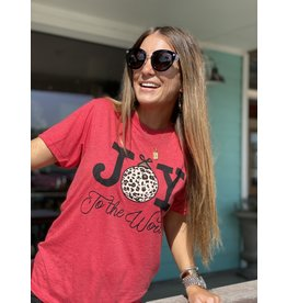 Joy To The World Vintage Red T