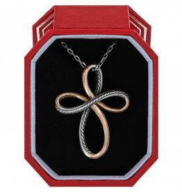 Brighton Neptune's Rings Cross  Necklace Gift Box