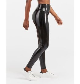 Spanx Faux Patent Leather Leggings Classic Black